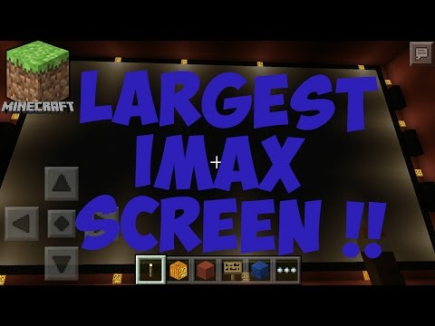Worlds Largest IMAX screen in Minecraft (PC/PE) with Private Threatre ( Made by me)