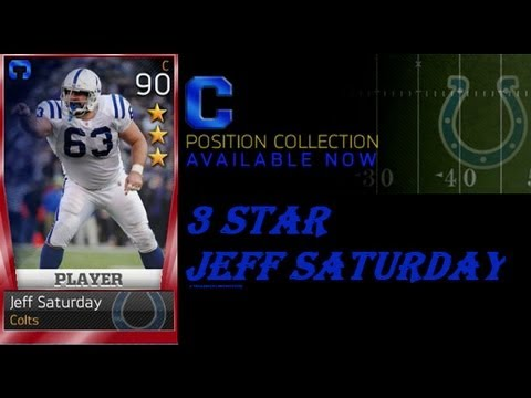 Madden 13 Ultimate Team | Center Completion Collection | 3 Star Jeff Saturday |
