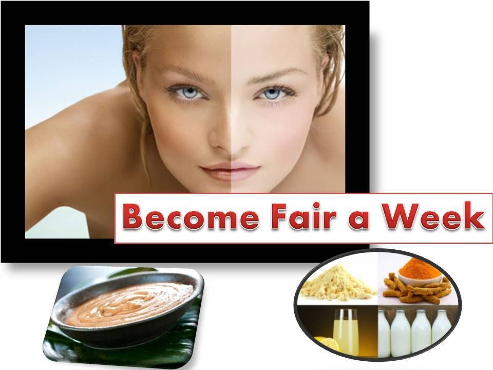 how to become fair naturally for men