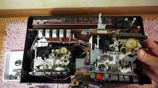 Ремонт Sharp GF-700. Часть 1. Разборка магнитолы и замена пасиков протяжек.