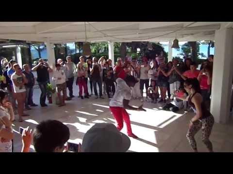 Roly Maden y Yoliana Conde Perez bailan salsa en que viva la salsa 2013