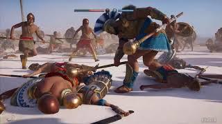 Assassin's Creed Odyssey massive battle | Direct capture at E3