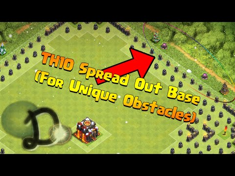 Clash of Clans - TH10 Spread Out Base (For Unique Obstacles) [AFTER THE TH11 UPDATE]