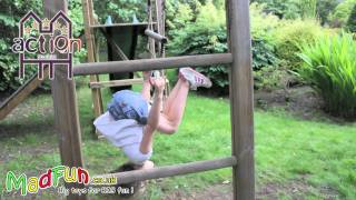 Www.madfun.co.uk - Action Wooden Climbing Frames - Madfun Monkey Tower