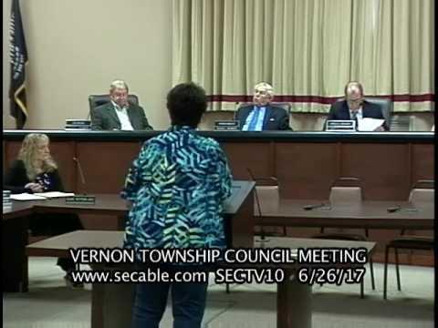 Vernon Township Council Meeting 6 26 17