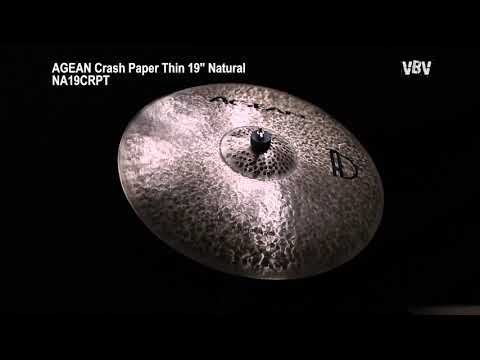 "Crash Paper Thin 19"" Natural video"