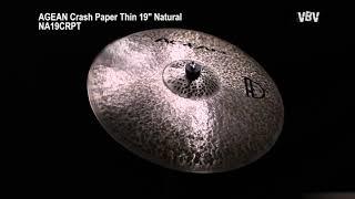 "19"" Crash Paper Thin Natural Video"