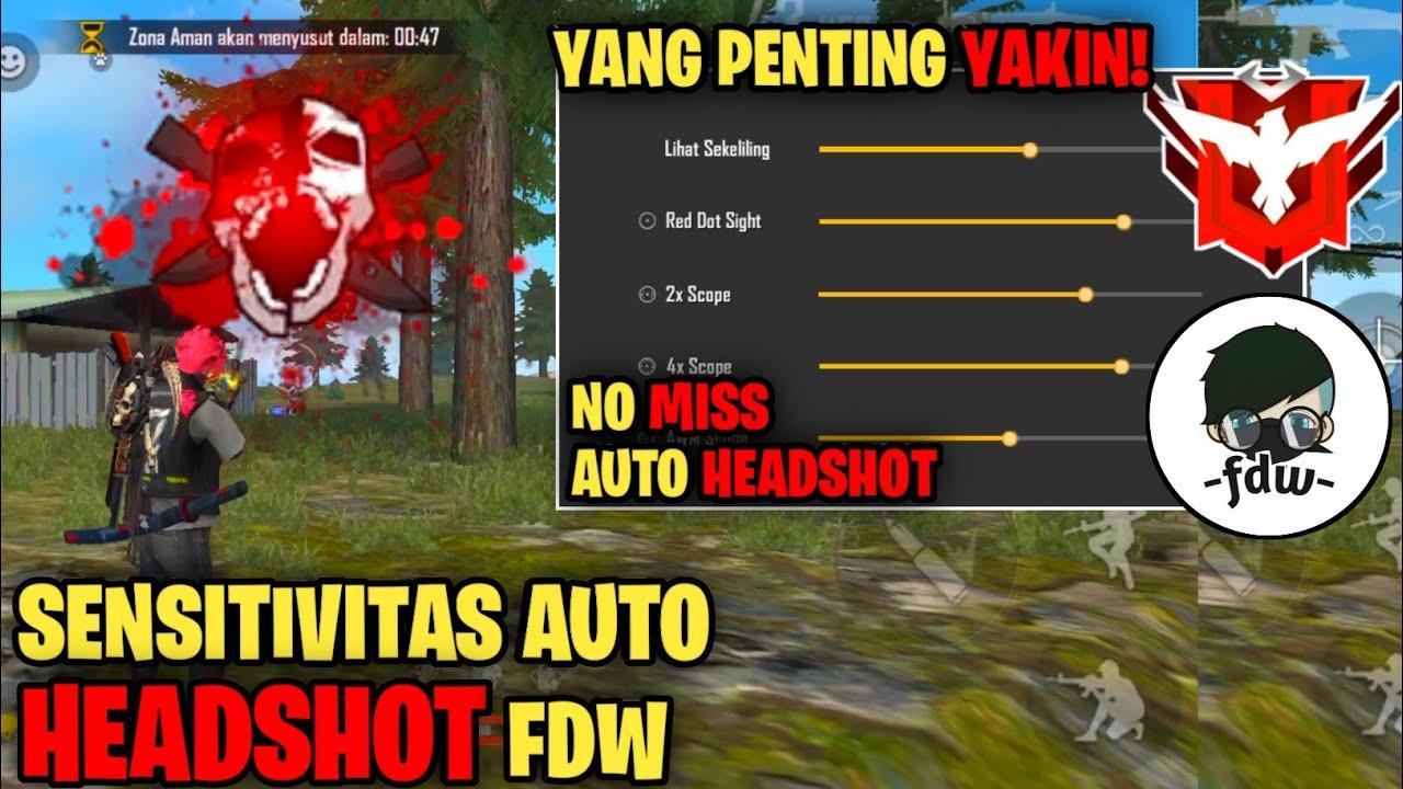 Sensitivitas Fdw Sensitivitas Free Fire Terbaik Sensitivitas Auto Headshot 2020 Youtube