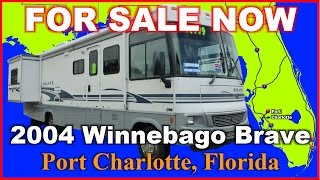 2004 Winnebago Brave 32U Used Class A Gas Motorhome, Florida, Port Charlotte, Fort Myers, Sarasota
