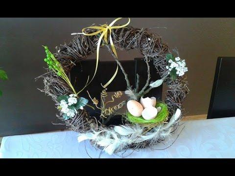Diy Jak Zrobić Wianek Na Wielkanoc Wiosenne Dekoracje Easter