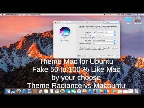 How Change Look Ubuntu same a Mac 50-100 percent what your choose