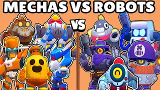 MECHAS vs ROBOTS | WHAT IS THE BEST BRAWLERS TEAM? | BRAWL STARS OLYMPICS