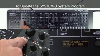 "SYSTEM-8 Quick Start 01 ""To Update the SYSTEM-8 System Program"""