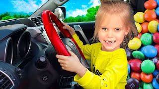 The We Are in the Car Wheels On The Bus Song | Vitalina life