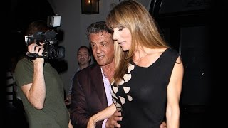 Sly Stallone Treats Lovely Wife Jennifer Flavin To B-Day Dinner At Craig's