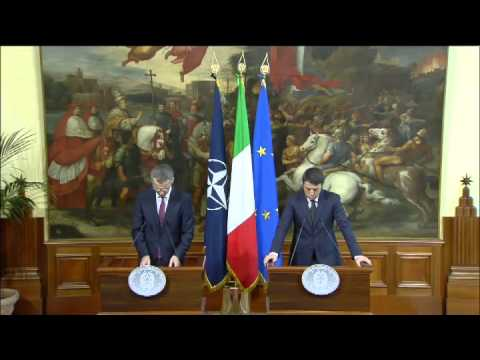 Renzi riceve il Segretario Generale della Nato, Jens Stoltenberg