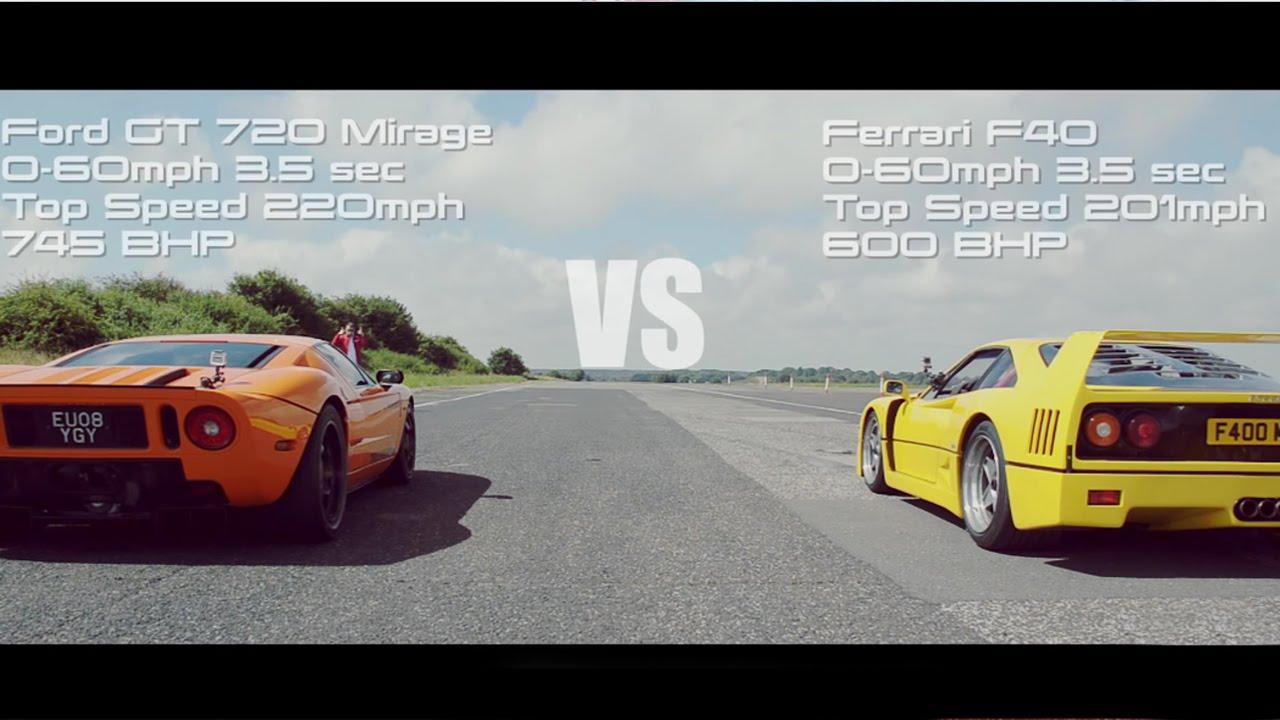 Hypercar Shootout Ford Gt Aventador Youtube