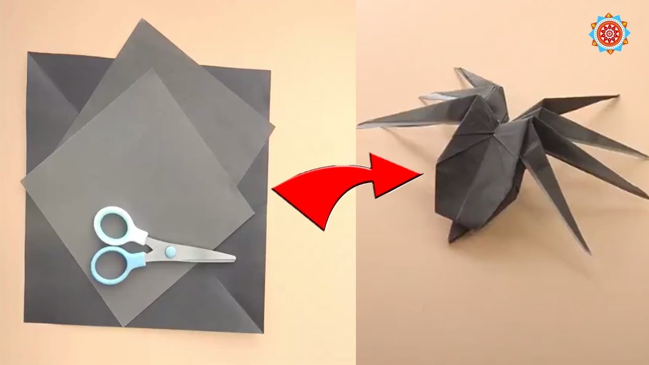 How to make a traditional origami spider: page 1 | 720x1280