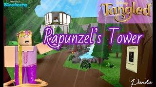 BLOXBURG | Disney Rapunzel Tower Speed Build & Tour: ROBLOX