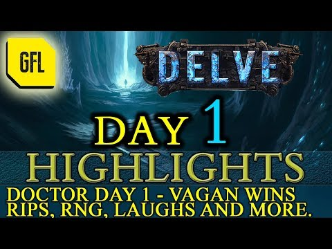 Path of Exile 3.4: Delve DAY #1 Highlights Doctor Day 1, Vagan Wins and more