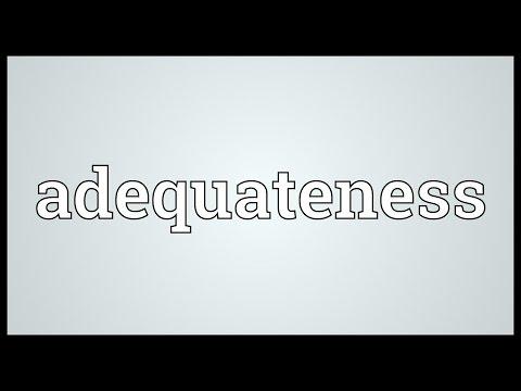 Header of adequateness