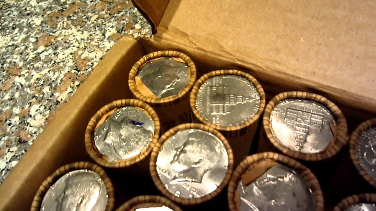Silver Coin Roll Hunting First Box Of 500 In Half