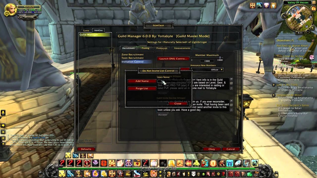 Guild Manager Addon for World of Warcraft YouTube