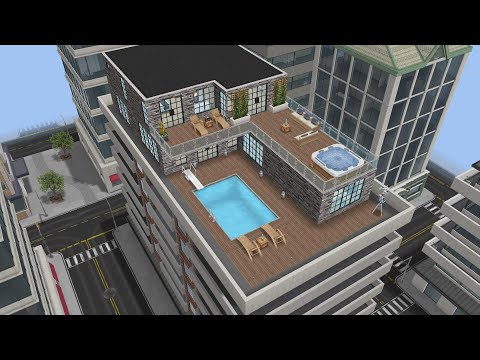 Modern Penthouse design preview (Sims Freeplay)||felixcinan(
