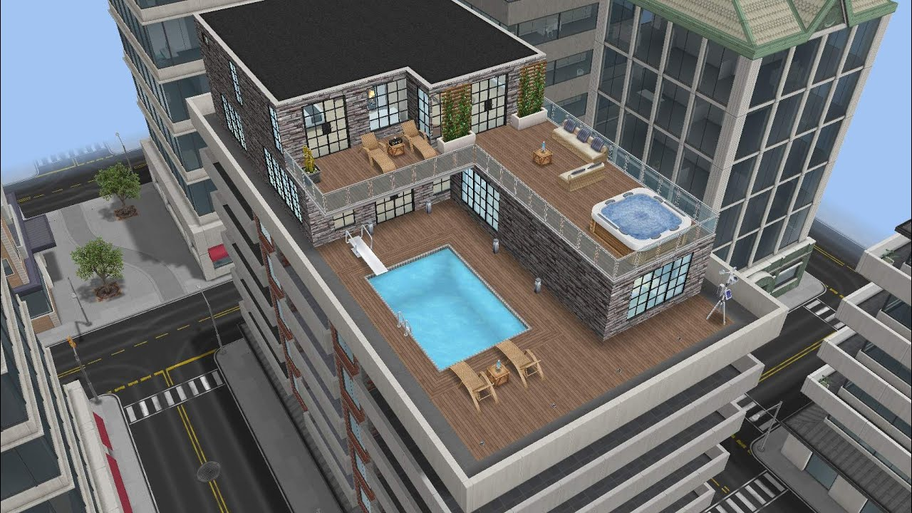 Penthouse Design modern penthouse design preview (sims freeplay)||felixcinan(5k