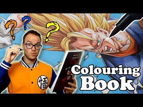 Professional Artist Colors A CHILDRENS Colouring Book..? | Dragon Ball Z | 8