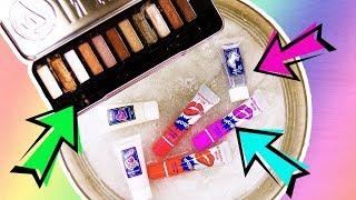 Mixing Makeup in Slime   JEDEN Lidschatten & Lippenstift in Slime mischen! Was passiert?   DIY Slime