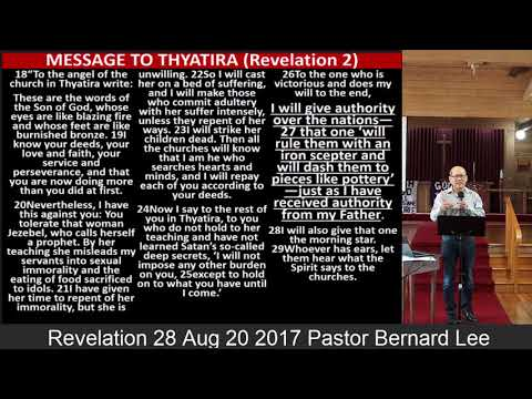 Revelation 28 Aug 20 2017 Pastor Bernard Lee