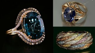 Download Luxury and Expensive Gold Rings Designs/ Beautiful Gold Stone Rings Designs/ by Family Mag