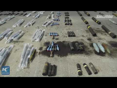 Syrian Army Shows Confiscated Weapons From Daraa Province
