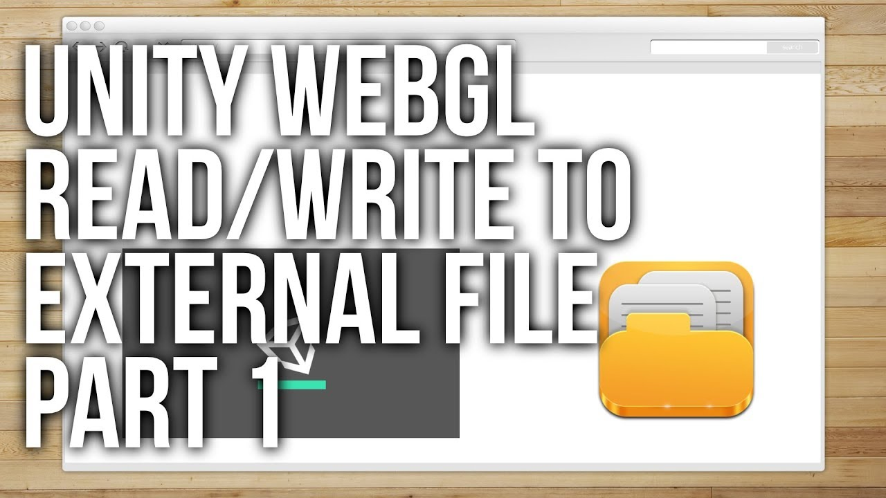 How to Read and Write to a Textfile from Unity WebGL Part 1
