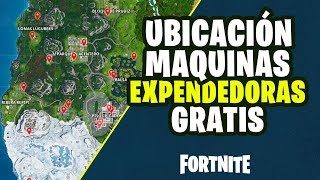 FREE PARKING MACHINES LOCATION in FORTNITE