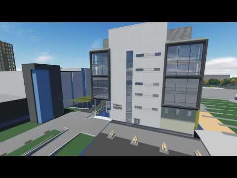 Capella building - exterior fly around