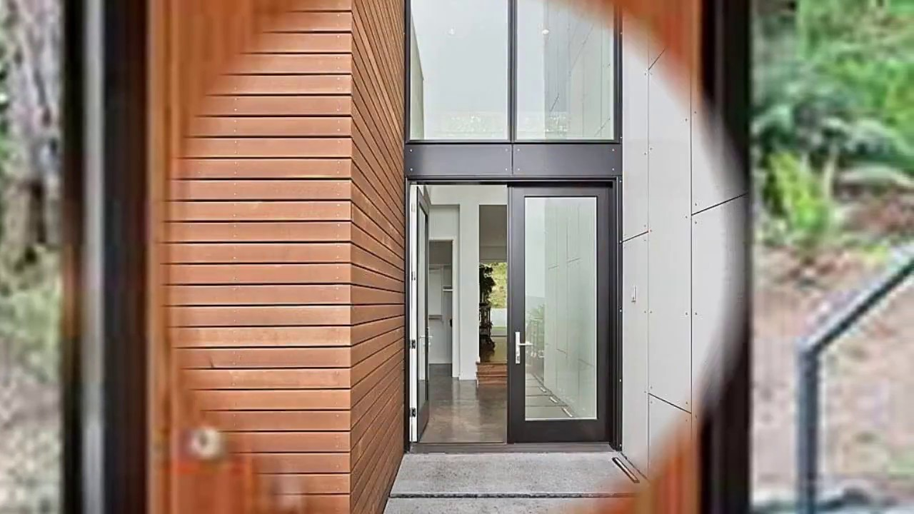 Modern Exterior Front Doors with Glass Designs - YouTube