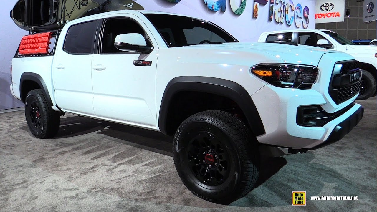 2017 Toyota Tacoma TRD Pro - Exterior and Interior Walkaround - Debut at 2016 LA Auto Show - YouTube
