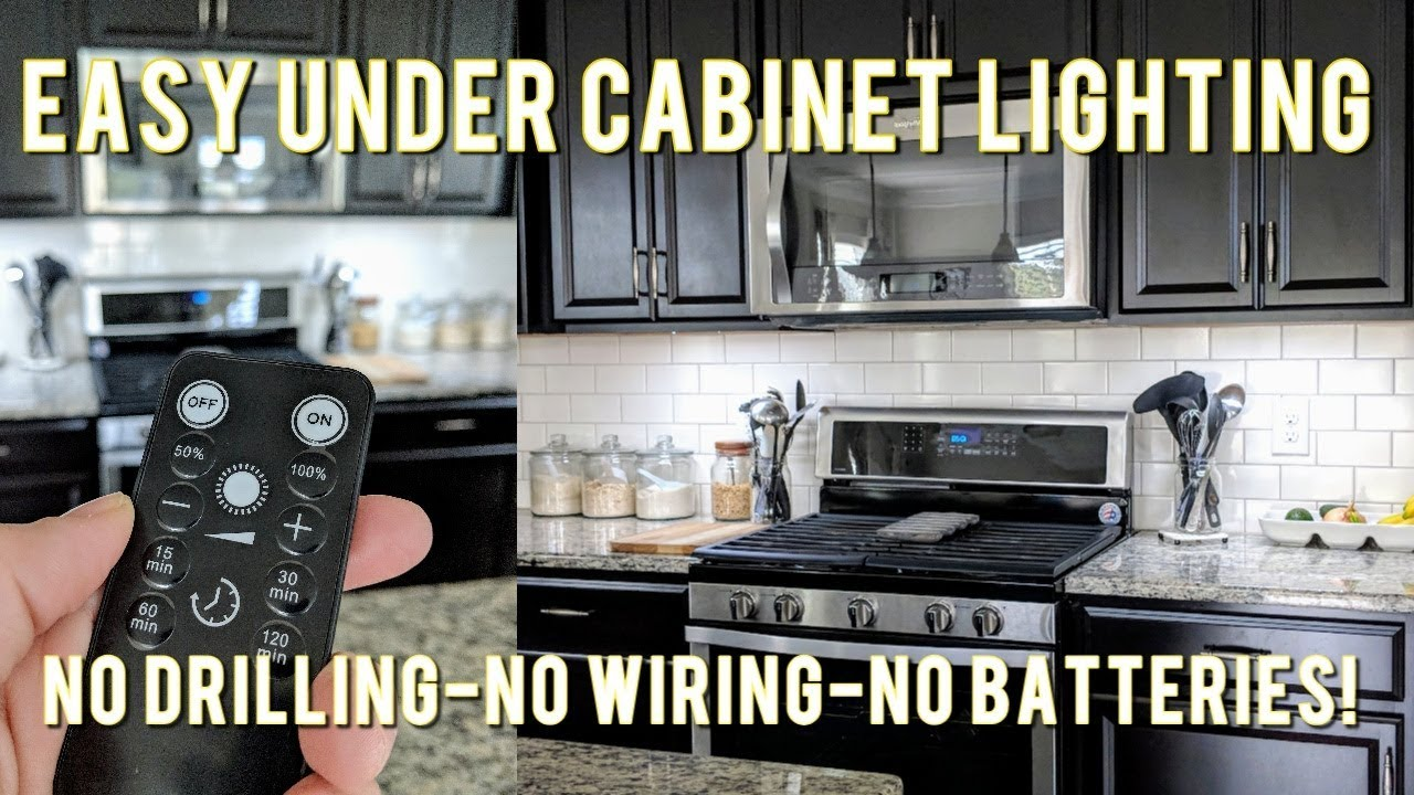 easy affordable under cabinet led lighting solution no wiring rechargeable  [ 1280 x 720 Pixel ]