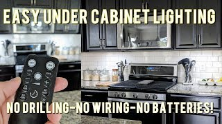 easy affordable under cabinet led lighting solution no wiring rechargeable