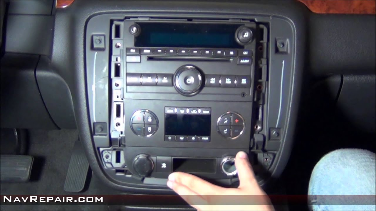 2005 Corvette Bose Wiring Diagram Gmc Chevrolet Radio Removal Guide Youtube