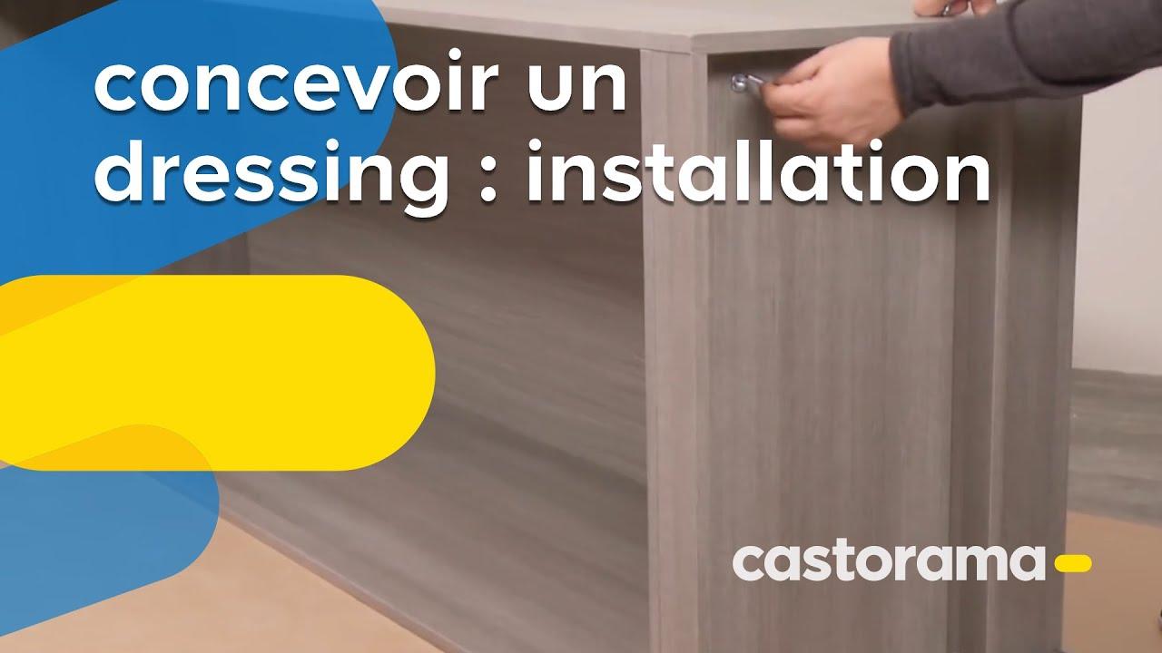 Concevoir Un Dressing Installation Castorama Youtube