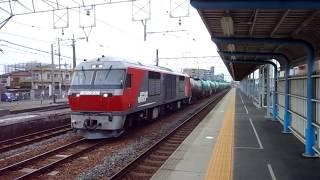 2018/02/25 関西線 蟹江駅にて赤熊(DF200)待避線へ