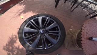 2015 wrx weighing 17in oem wheels and 18in Enkei RPF1's