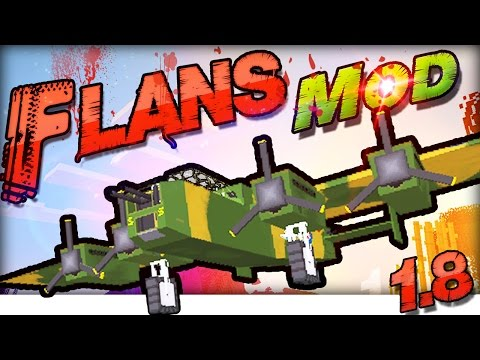 MINECRAFT MODS 1.8 : Flans FLUGZEUG Mod In-Game Review / Tutorial | German Deutsch |WW2 & MW Pack