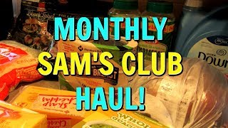 $230 Monthly SAM'S CLUB HAUL! Grocery Haul | January 2019