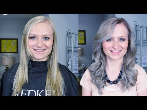 SILVER OMBRE // HOW TO COLOR WOMENS HAIR