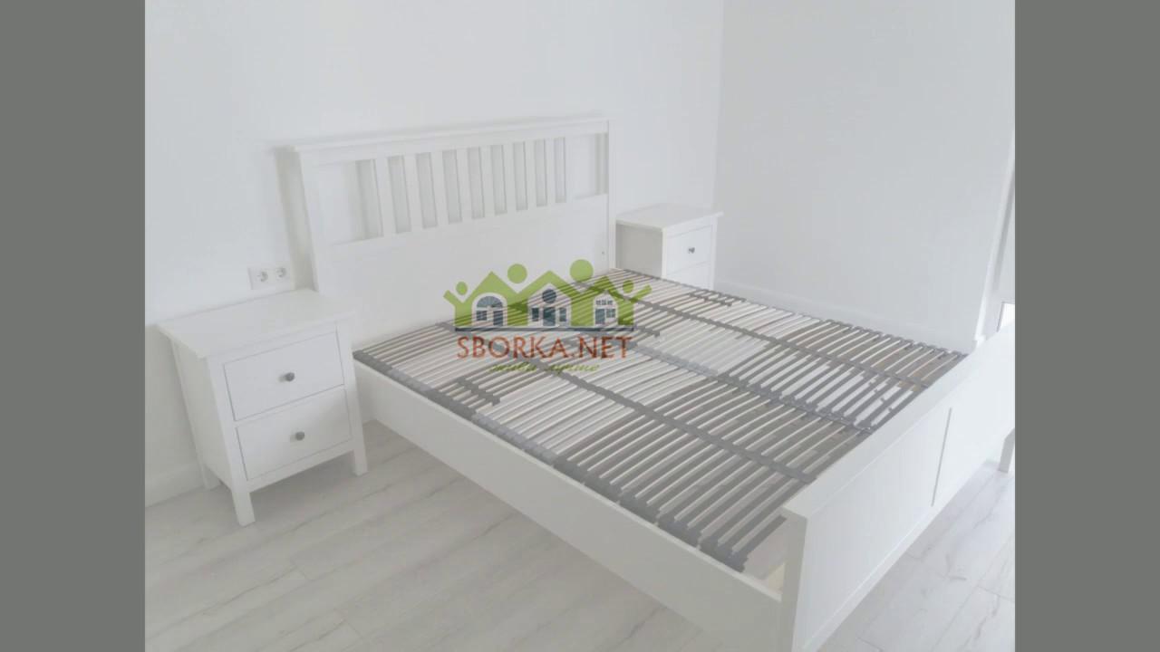 сборка мебели икеа Ikea серия спальни хемнэс Hemnes Youtube