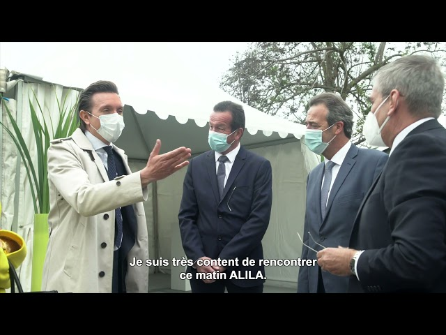 ALILA – 1ère Pierre de LES TERRASSES DE L'ANCION  – Mr FAVRAT –Adj. au Maire de Thonon-les-Bains